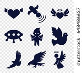 flying icons set. set of 9... | Shutterstock .eps vector #648486637