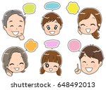 three generations family is... | Shutterstock .eps vector #648492013