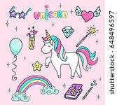 set of hand drawn illustration... | Shutterstock .eps vector #648496597