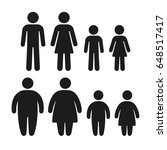 healthy weight and obese people ... | Shutterstock . vector #648517417