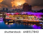 colorful light building at... | Shutterstock . vector #648517843
