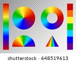set of rainbow radial gradients ... | Shutterstock .eps vector #648519613