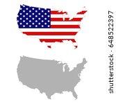 vector illustration of usa map... | Shutterstock .eps vector #648522397