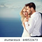 elegant and attractive couple... | Shutterstock . vector #648522673