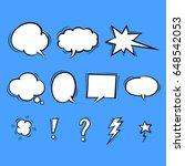 hand draw speech bubble  vector | Shutterstock .eps vector #648542053