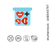 heart shaped love pills in box... | Shutterstock .eps vector #648545797