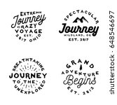 minimal old fashioned logos on... | Shutterstock .eps vector #648546697