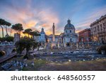 ancient ruins of forum and... | Shutterstock . vector #648560557