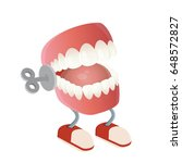 funny chattering teeth toy | Shutterstock .eps vector #648572827