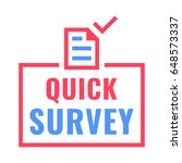 quick survey. badge with... | Shutterstock .eps vector #648573337