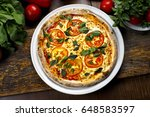 pizza margherita | Shutterstock . vector #648583597