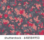 abstract camouflage pattern.... | Shutterstock .eps vector #648584953