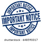 important notice blue round... | Shutterstock .eps vector #648590317