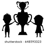 champion family black icon... | Shutterstock .eps vector #648593323