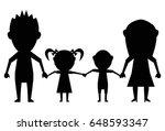 dolls family black icon vector | Shutterstock .eps vector #648593347