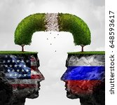russia united states relations... | Shutterstock . vector #648593617