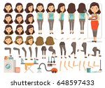 housewife character creation... | Shutterstock .eps vector #648597433