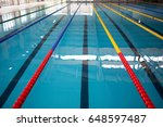 olympic swimming pool lane... | Shutterstock . vector #648597487