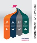 business infographic made of...   Shutterstock .eps vector #648598003