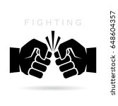 abstract fighting vector icon... | Shutterstock .eps vector #648604357