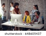 freelance designers people... | Shutterstock . vector #648605437