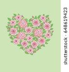 heart of the summer pink...   Shutterstock .eps vector #648619423