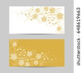 set of horizontal banners.... | Shutterstock .eps vector #648619663