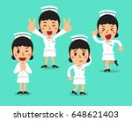 cartoon female nurse character... | Shutterstock .eps vector #648621403