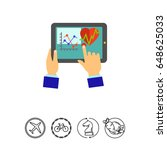 medical record in tablet icon   Shutterstock .eps vector #648625033