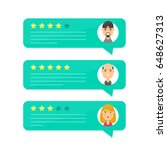 review rating bubble speeches.... | Shutterstock .eps vector #648627313