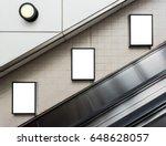 mock up poster media template... | Shutterstock . vector #648628057