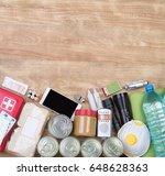 objects useful in emergency... | Shutterstock . vector #648628363