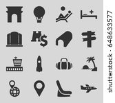 travel icons set. set of 16... | Shutterstock .eps vector #648633577