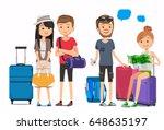 multicultural travelers. travel ... | Shutterstock .eps vector #648635197