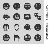 facial icons set. set of 16... | Shutterstock .eps vector #648637297