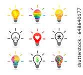 light bulb concept set made of