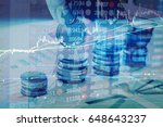 charts of financial instruments ... | Shutterstock . vector #648643237