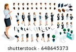 large isometric set of hand and ... | Shutterstock .eps vector #648645373