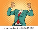 mock up businessman without a... | Shutterstock .eps vector #648645733