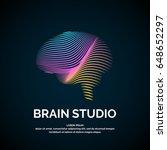 vector logo brain color... | Shutterstock .eps vector #648652297
