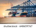 industrial container cargo... | Shutterstock . vector #648659767