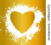 golden heart  vector object....   Shutterstock .eps vector #648662653