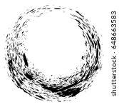 grunge hand drawn black ... | Shutterstock .eps vector #648663583
