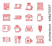 cafe icons set. set of 16 cafe... | Shutterstock .eps vector #648670357
