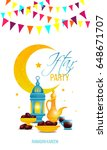vector greeting card for iftar ... | Shutterstock .eps vector #648671707