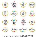 vector hand drawn typography...   Shutterstock .eps vector #648672097