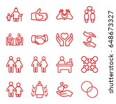 together icons set. set of 16... | Shutterstock .eps vector #648673327