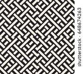 interlacing lines maze lattice. ... | Shutterstock .eps vector #648674263