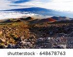 breathtaking view of mauna loa... | Shutterstock . vector #648678763