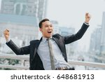 celebrating success. excited... | Shutterstock . vector #648681913